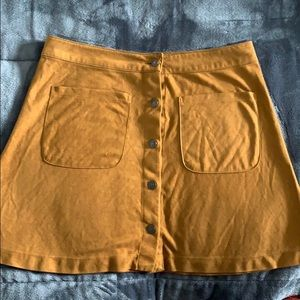 rust brown skirt